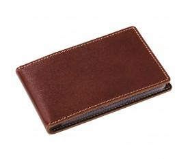 Футляр для визиток или пластиковых карт, коричневый